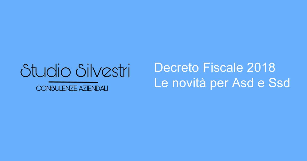 Decreto Fiscale 2018 - Studio Silvestri - Commercialista_FB