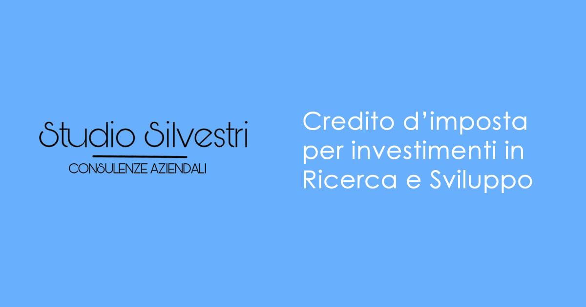 Credito d'imposta Ricerca e Sviluppo - Studio Silvestri - Commercialista