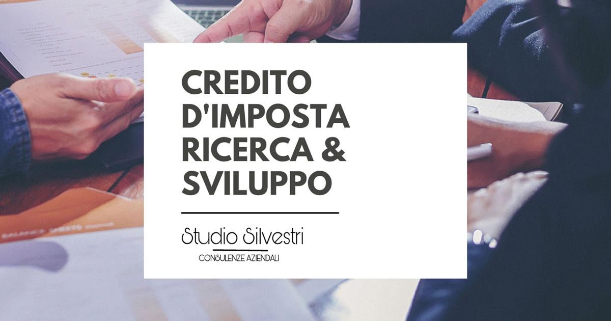 Credito d'imposta per investimenti in Ricerca e Sviluppo - www.StudioCommercialeSilvestri.it
