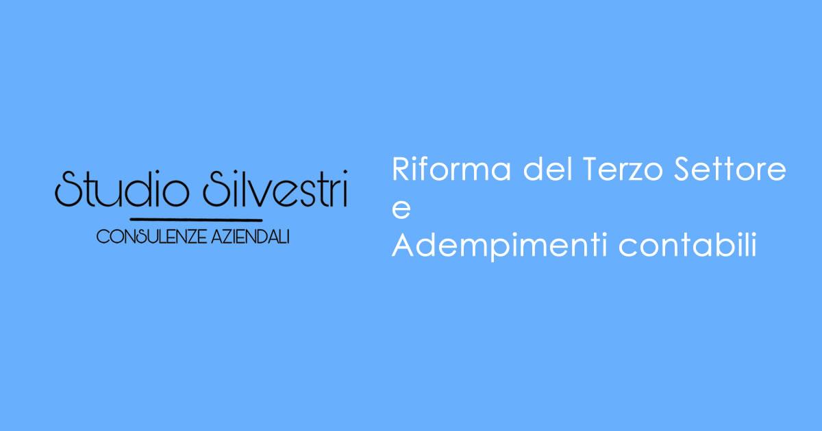Riforma del Terzo Settore e Adempimenti contabili - Studio Silvestri - Commercialista_FB